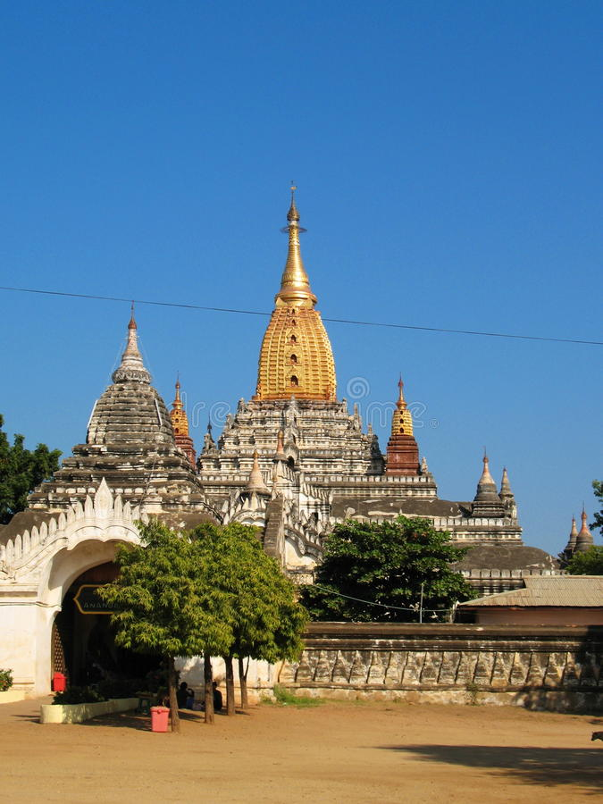The Majestic Ananda Temple in Bagan royalty free stock photos