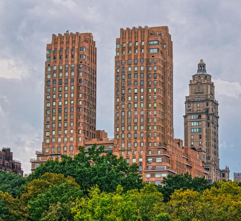 Central Park Apartments New York: New Apartments Building Stock Image. Image Of Outdoor