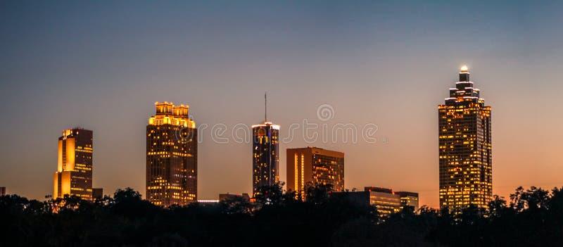 Majestic Atlanta Nights royalty free stock photography