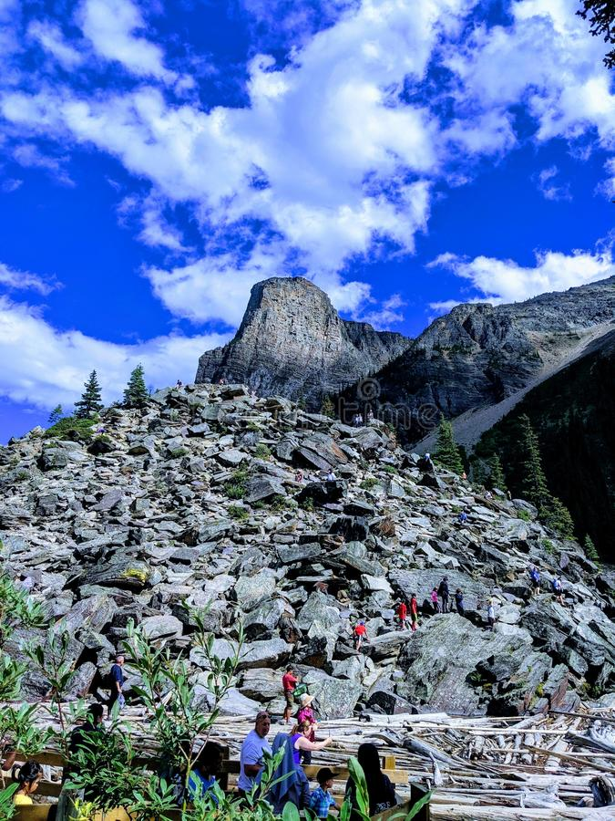 Majestic Banff Mountains royalty free stock images
