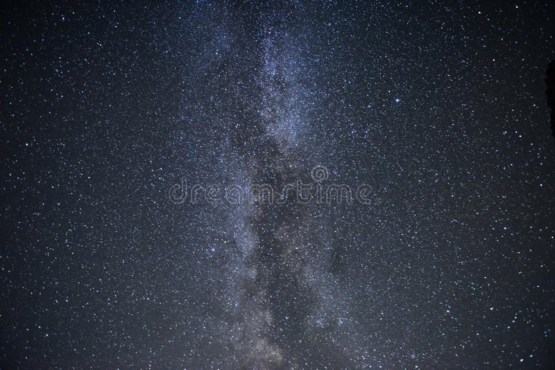 Majestic and beautiful. Milky way galaxy with stars and space dust in the universe. Photoed on the night sky royalty free stock photo