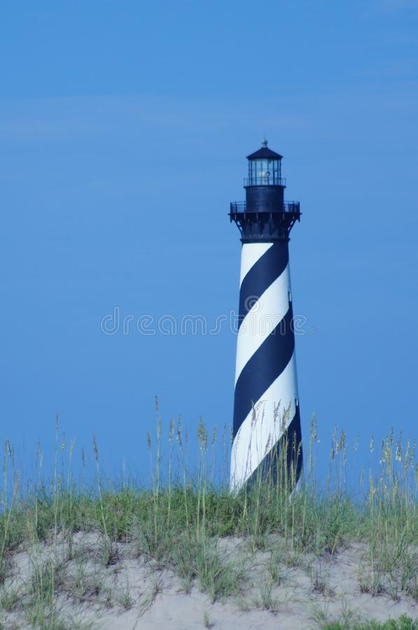 Majestic Cape Hatteras National Seashore Lighthouse stock photography