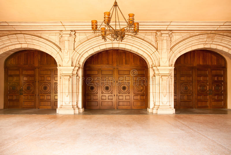 Download Majestic Classic Arched Doors With Chandelier� Stock Images - Image: 14386564