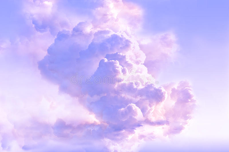 Majestic clouds in the atmosphere royalty free stock photos