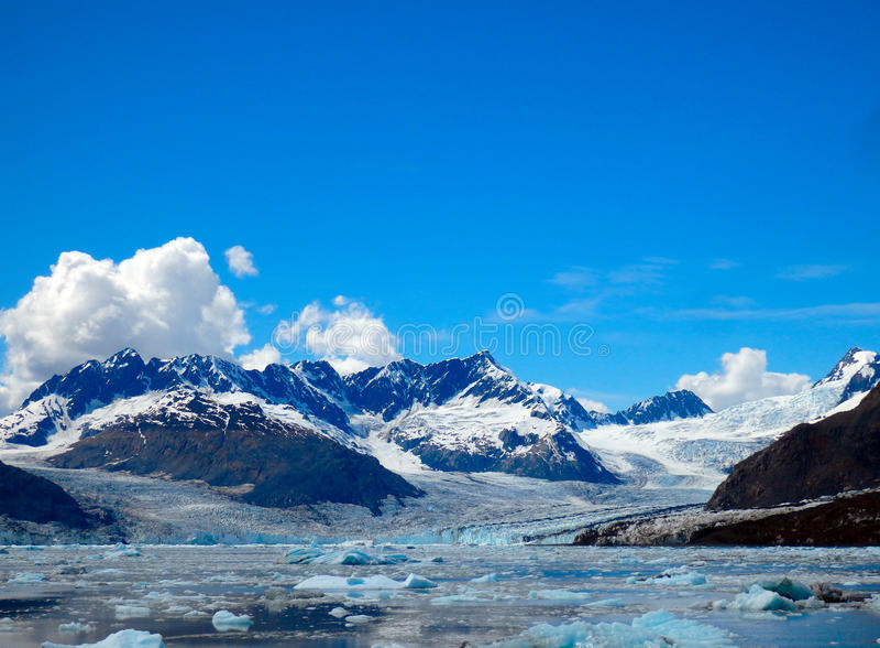 The majestic columbia glacier in alaska royalty free stock photo