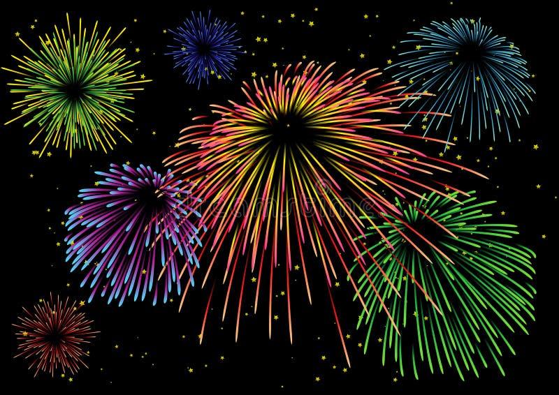 Download Majestic firework stock vector. Image of festival, celebrate - 7409244