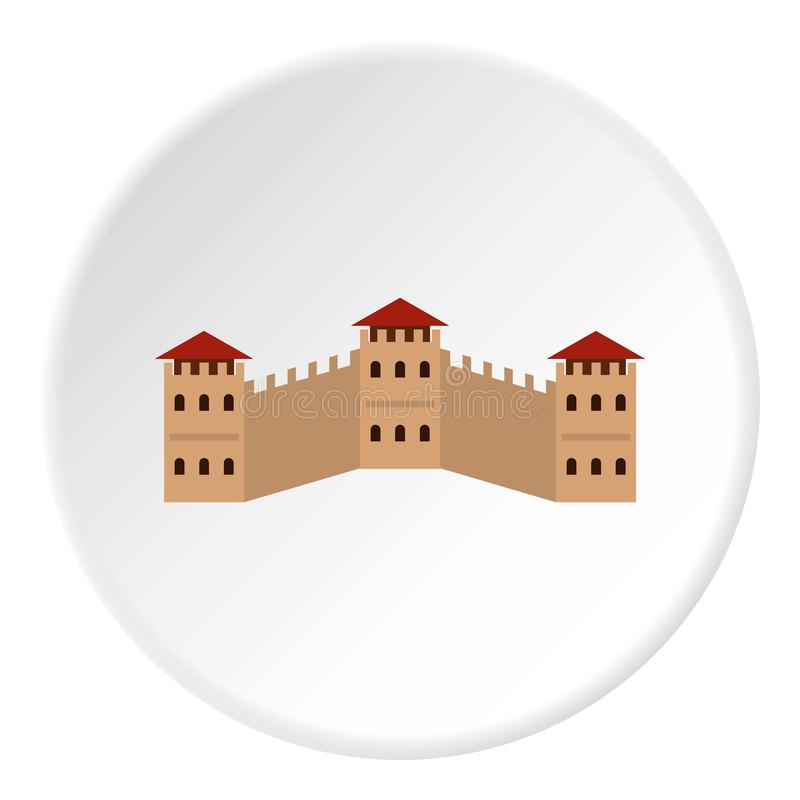 Majestic Great Wall of China icon circle vector illustration