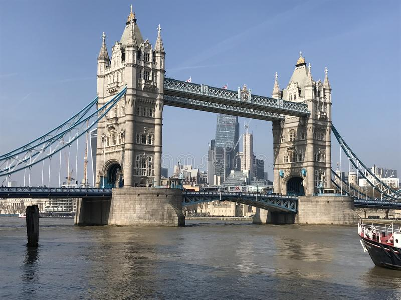 The majestic and historic London Bridge on the river Thames royalty free stock photo