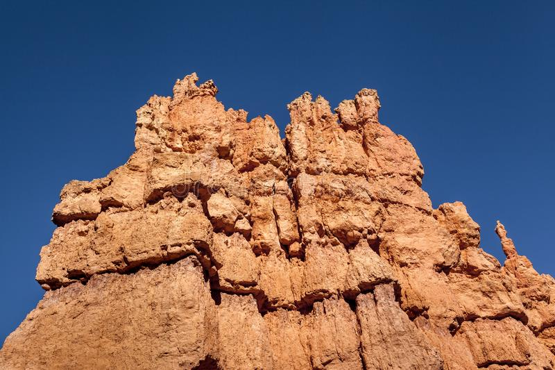 MajestIc Hoodoo Rocks In Bryce Canyon Before A Sunset stock image