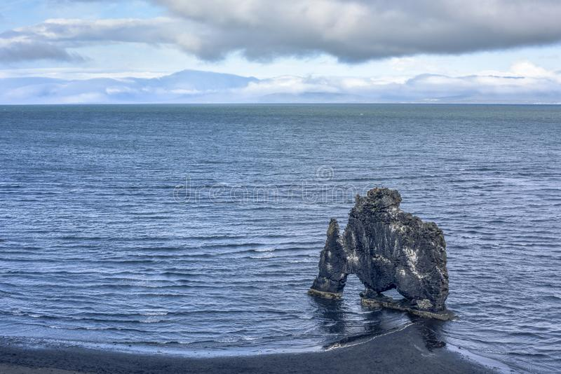 The majestic Hvitserkur Sea Stack - the `Troll of North-West Iceland`, Nordurland vestra, Iceland. Eurpe stock photos