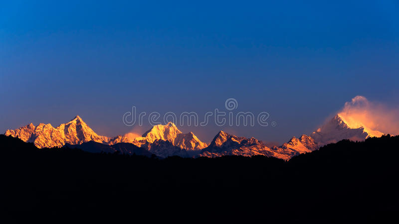 Download The majestic Kanchenjunga stock image. Image of mountain - 24804601