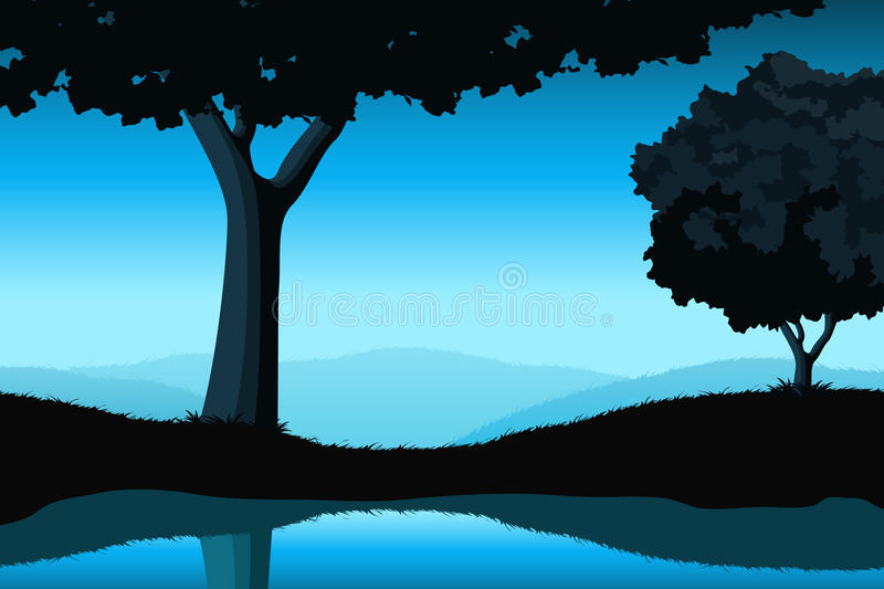 Majestic Landscape With Tree Stock Image