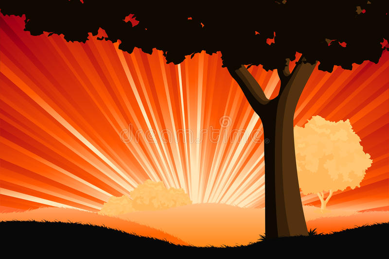 Download Majestic Landscape With Tree Stock Vector - Image: 14230462
