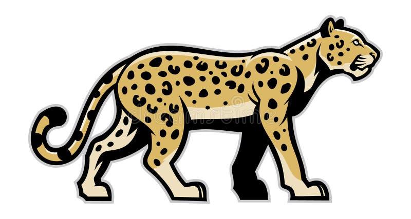 Majestic leopard mascot. Vector of majestic leopard mascot royalty free illustration