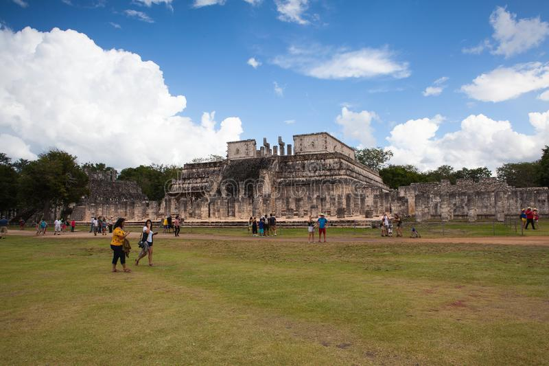 Majestic Mayan ruins in Chichen Itza,Mexico. stock images