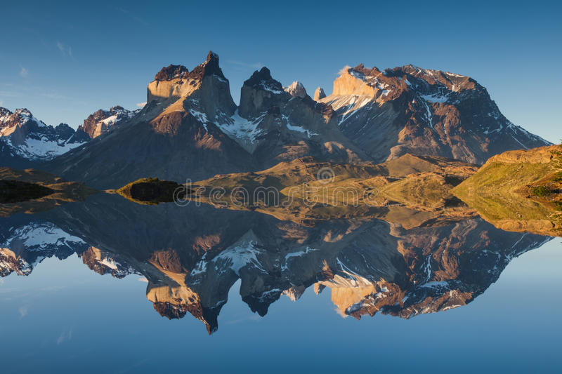 Majestic mountain landscape. Reflection of mountains royalty free stock photography