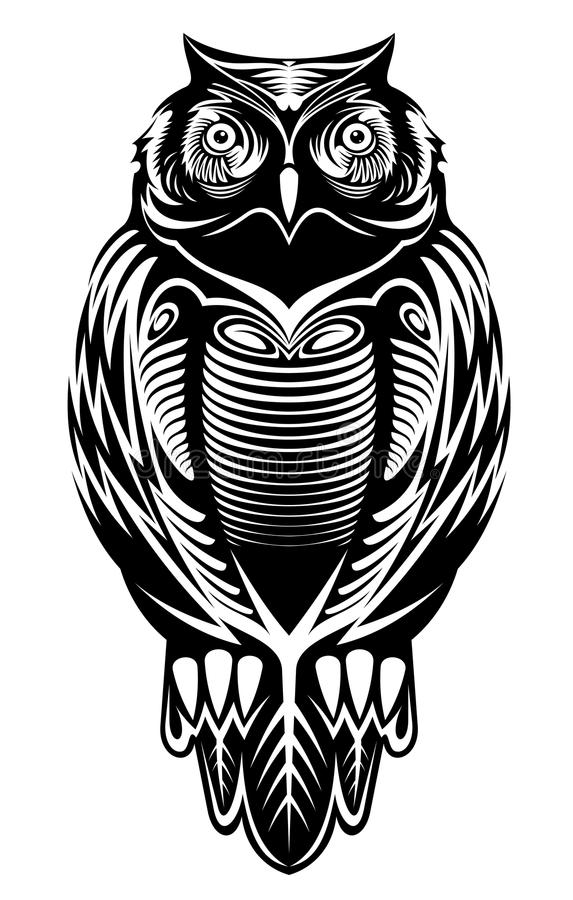 Majestic owl stock illustration