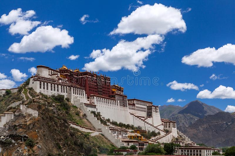 A majestic Palace. Potala Palace is located in the capital of the Tibet autonomous region China northwest of Lhasa City Hongshan mountain, is the world`s highest royalty free stock images