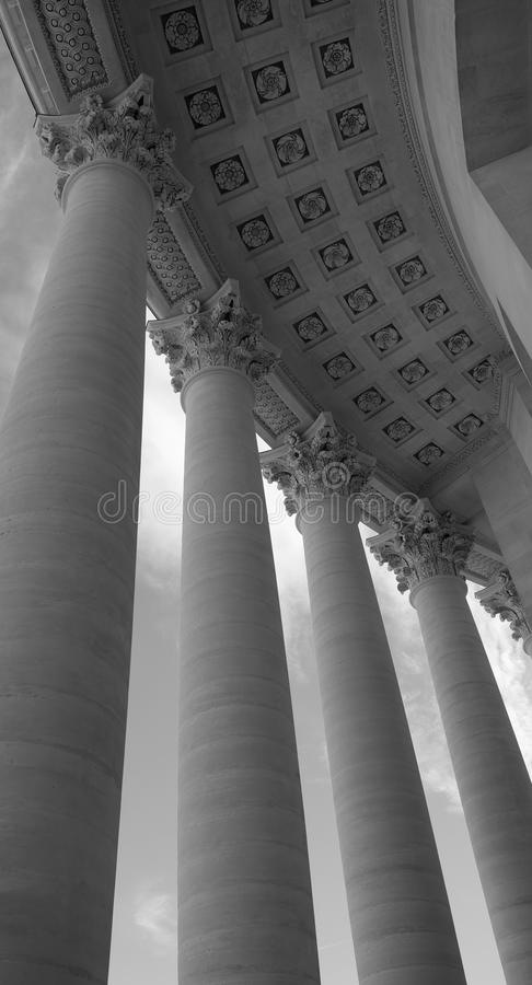 Majestic Pantheon Colonnade royalty free stock photos
