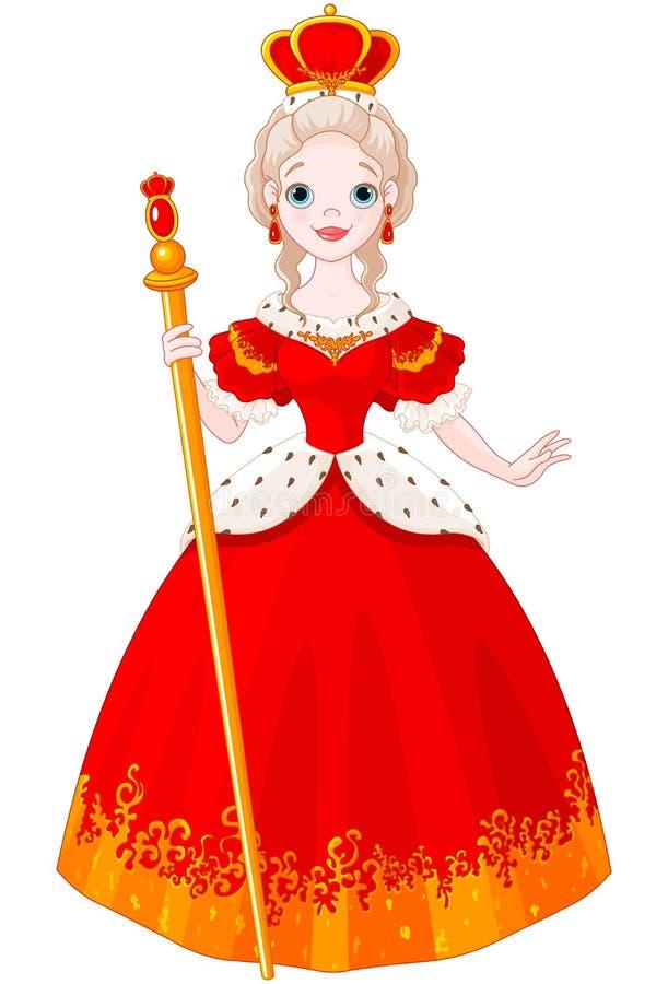 Majestic Queen. Illustration of cute majestic Queen vector illustration