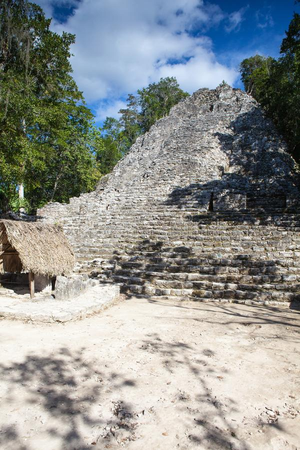 Majestic ruins in Coba, Mexico. royalty free stock photography