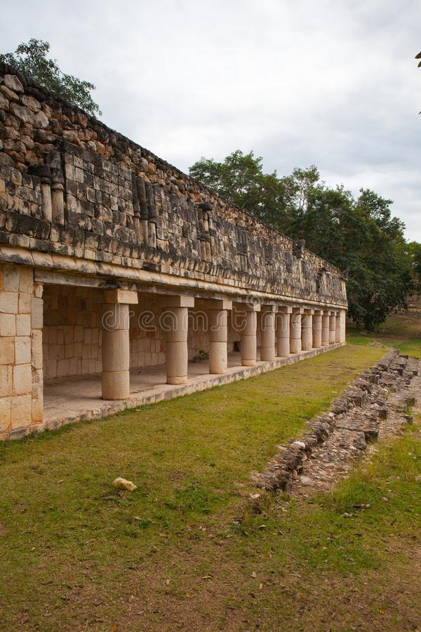 Majestic ruins Maya city in Uxmal,Mexico. royalty free stock photos