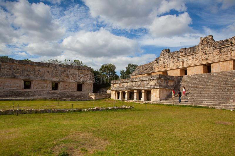 Majestic ruins in Uxmal,Mexico. stock photos