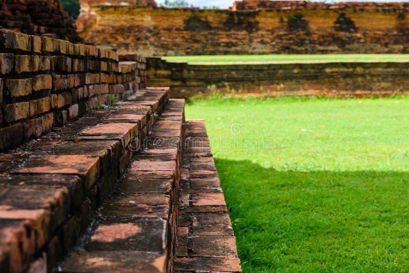 Majestic ruins of 1629 Wat Chai Watthanaram built by King Prasat Tong with its principal Prang (center) representing Mount. Majestic ruins of 1629 Wat Chai stock image
