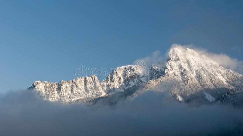 Download Majestic Snowy Mountain In Winter Stock Image - Image: 22592859