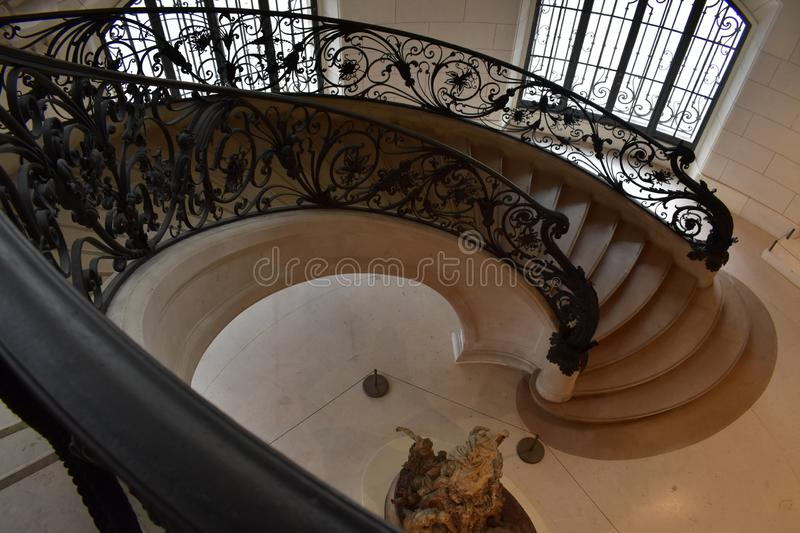 Stairs that are a luxury for the senses. Majestic staircase in the center of Paris. Upload it, is a luxury for the senses royalty free stock photos