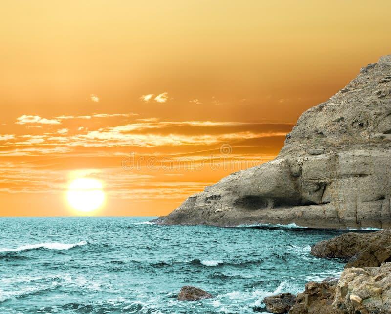Majestic sunset royalty free stock images