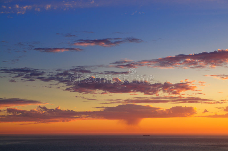 Download Majestic Sunset Over Pacific Ocean Stock Photo - Image: 5077474