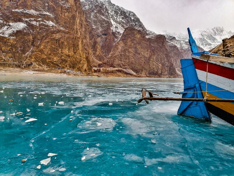Majestic View Of Attabad Lake royalty free stock photos