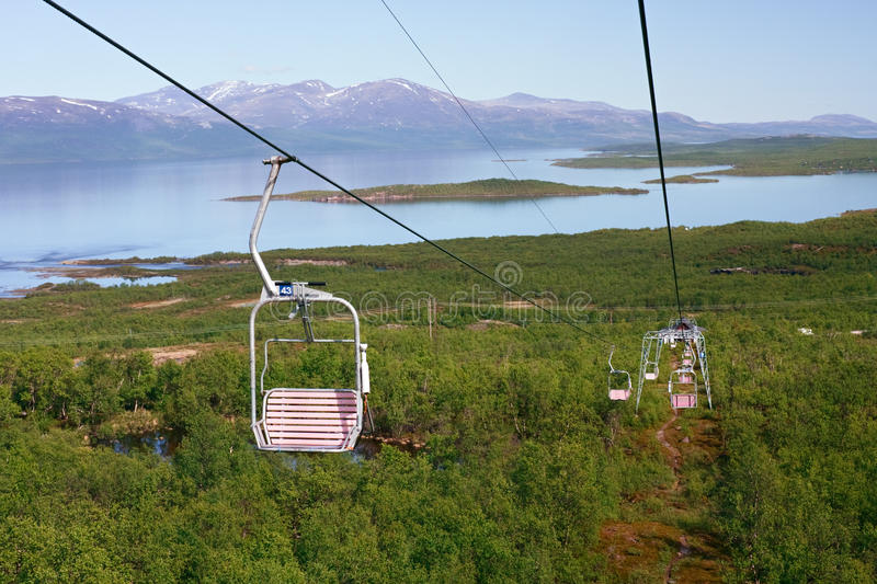 Majestic view from chair lift. Abisco National park, Sweden stock photos