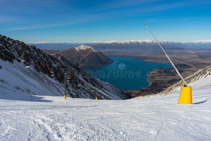 Majestic view of Ohau Snow Fields royalty free stock image