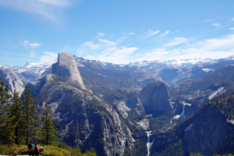 Glacier Point. Majestic view of Yosemite National Park from Glacier Point royalty free stock photos