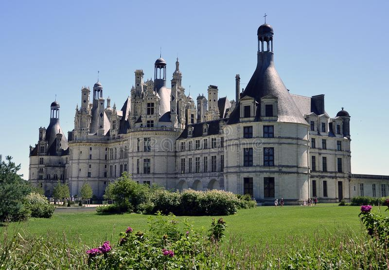 Chateau Chambord in all its glory stock photos