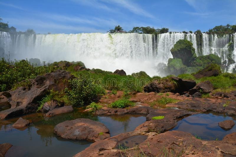 Beautiful Iguazu Falls in Argentina South America royalty free stock photos
