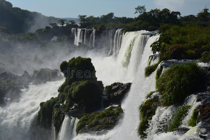 Beautiful Iguazu Falls in Argentina South America royalty free stock image