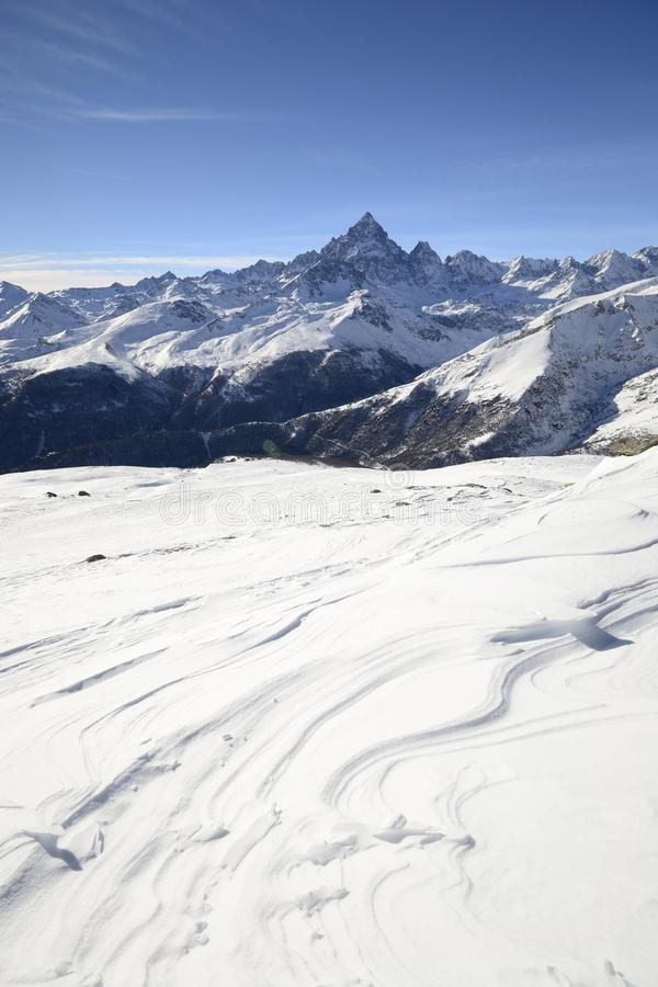 Download Majestic Winter View Of Mount Viso Stock Image - Image of alps, loneliness: 28273743