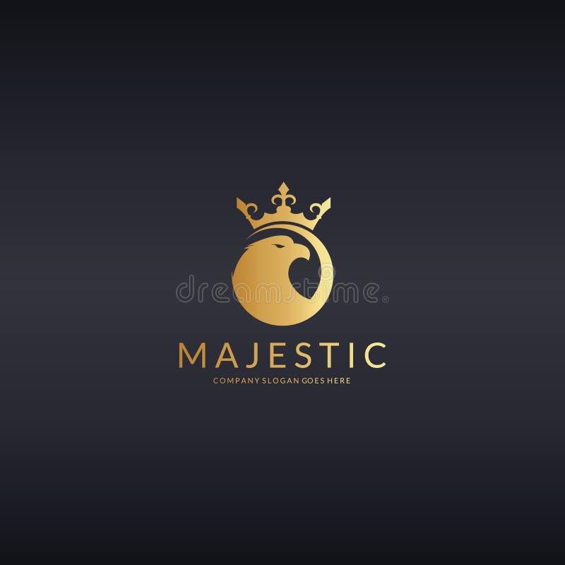 majestoso Logotipo de Eagle ilustração royalty free