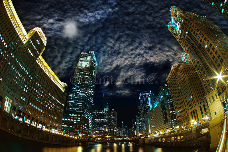 Majestueus Chicago royalty-vrije stock foto's