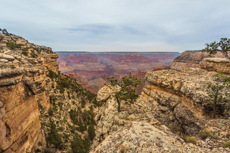 Majestueus Grand Canyon, Arizona, Verenigde Staten royalty-vrije stock foto