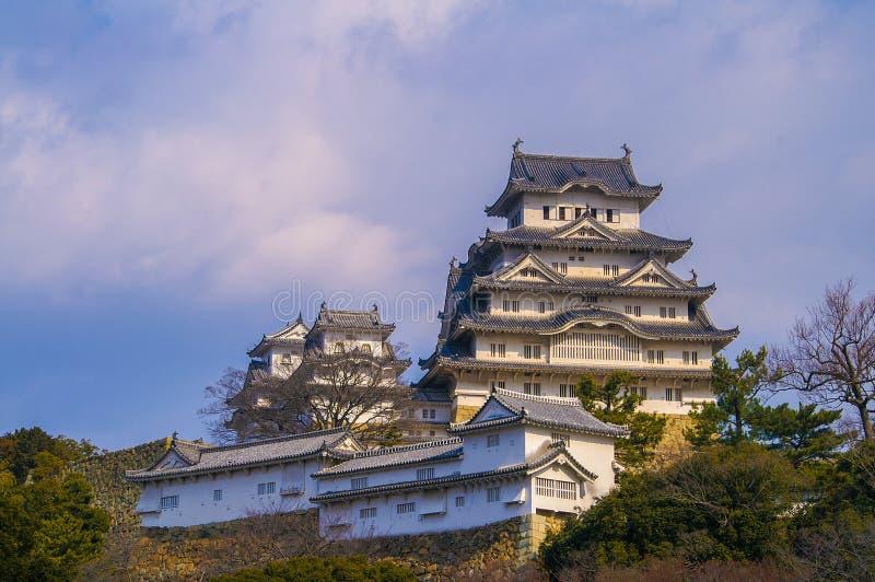 Majestueus Kasteel van Himeji in Japan. stock fotografie