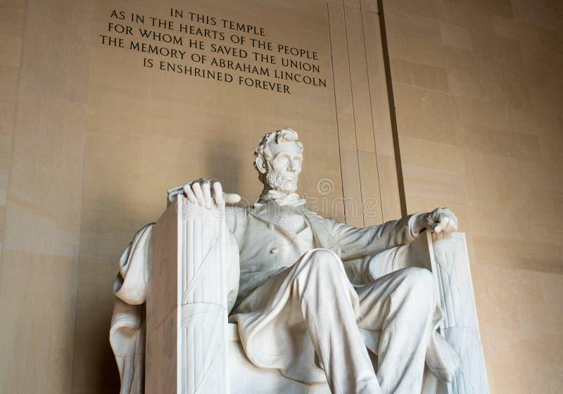 Majestueus Lincoln Memorial, Washington D C, royalty-vrije stock foto's