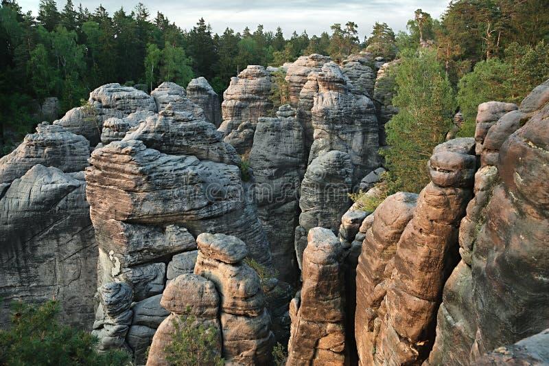 Majestueus rotsachtig landschap stock foto