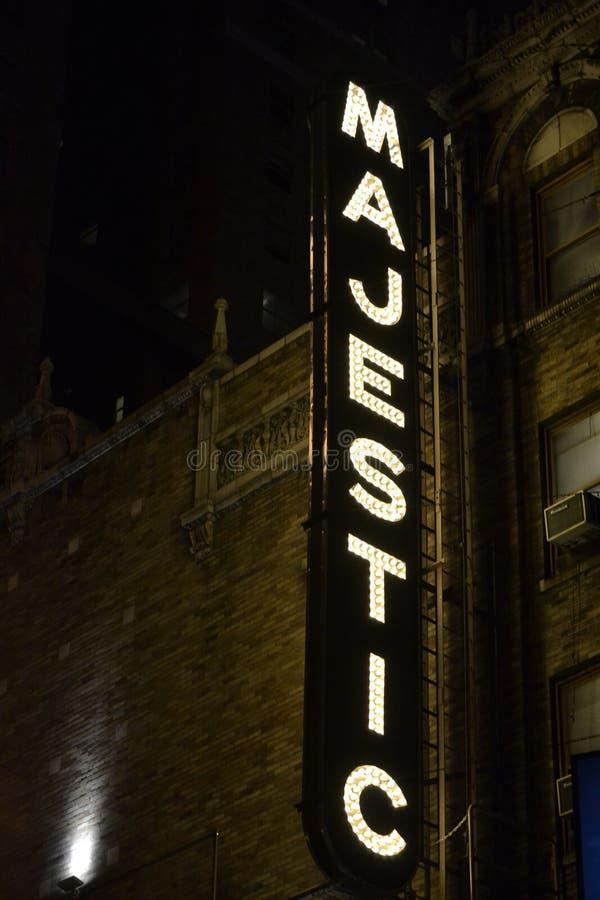 Majestueus Theater NYC royalty-vrije stock fotografie