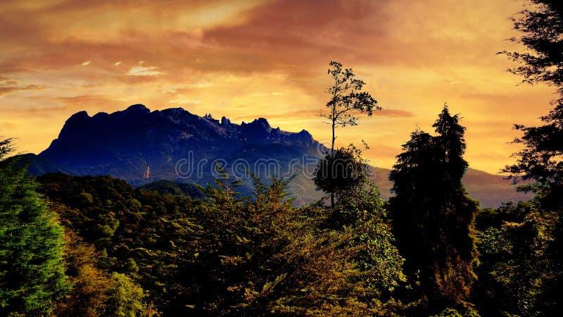 majestueux McKinnley Kinabalu photo libre de droits