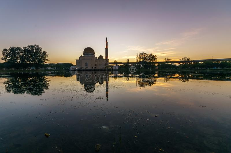 Majestueuze mening van als moskee van ` salam royalty-vrije stock foto's
