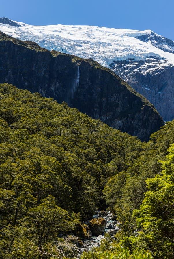 Majestueuze mening van Rob Roy Glacier royalty-vrije stock foto